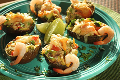 Gluten-Free Avocado and Shrimp Salsa Cups All But Gluten™