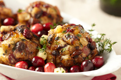 Gluten-Free Cranberry Apple Raisin Stuffing Balls All But Gluten™