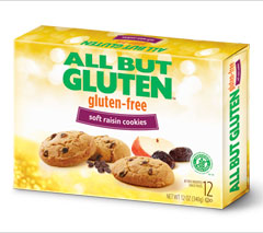 All But Gluten™ Soft Raisin Cookies